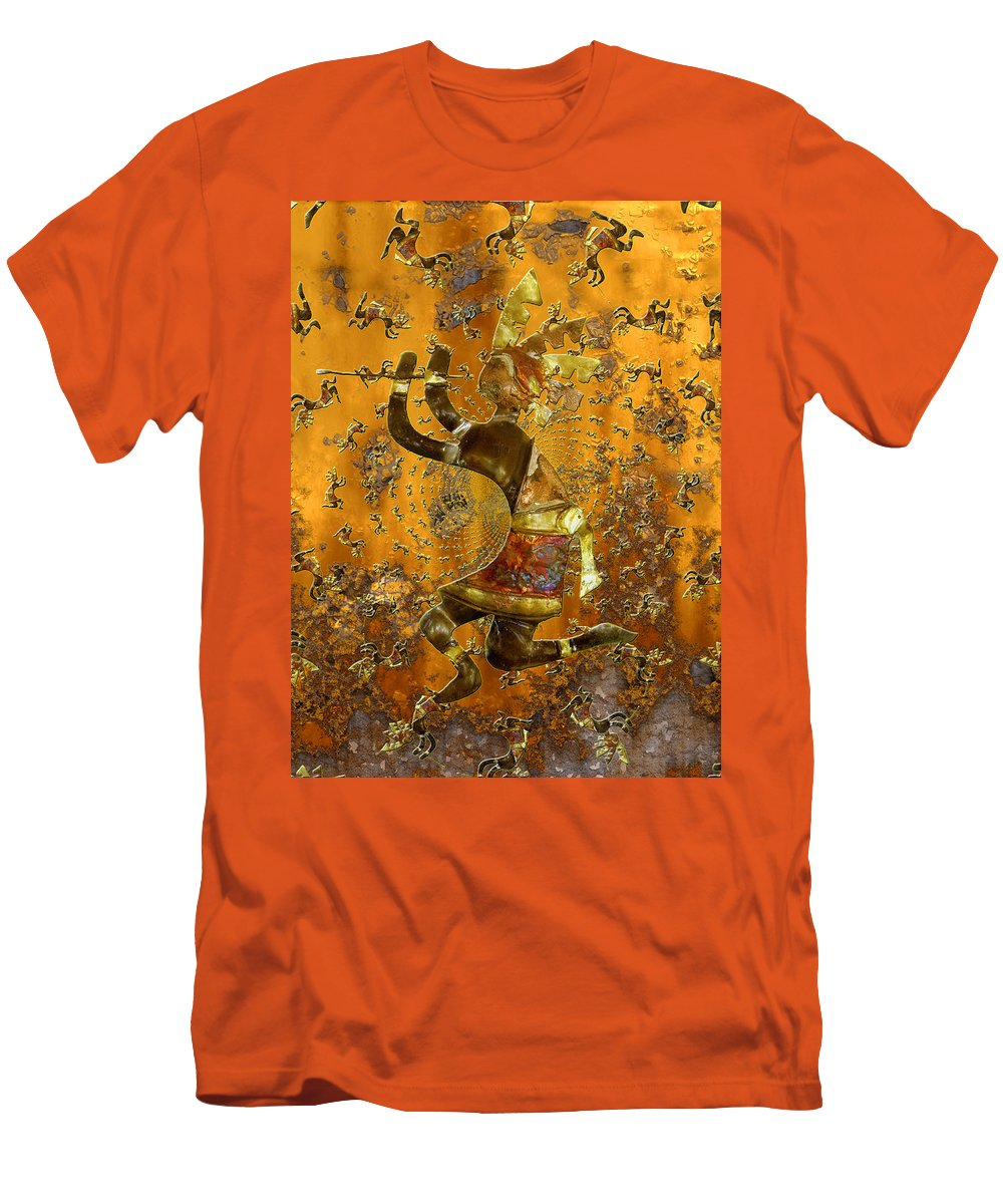 Kokopelli Men's T-Shirt (Athletic Fit) featuring the photograph Kokopelli by Kurt Van Wagner