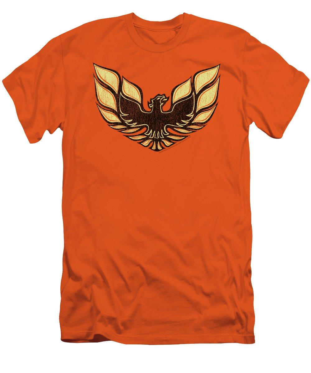 T-Shirt featuring the digital art Pontiac - Ross 1975 Bird by Brand A