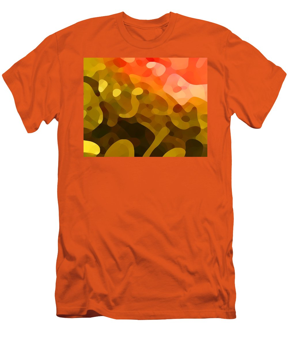 Abstract Men's T-Shirt (Athletic Fit) featuring the painting Spring Day by Amy Vangsgard