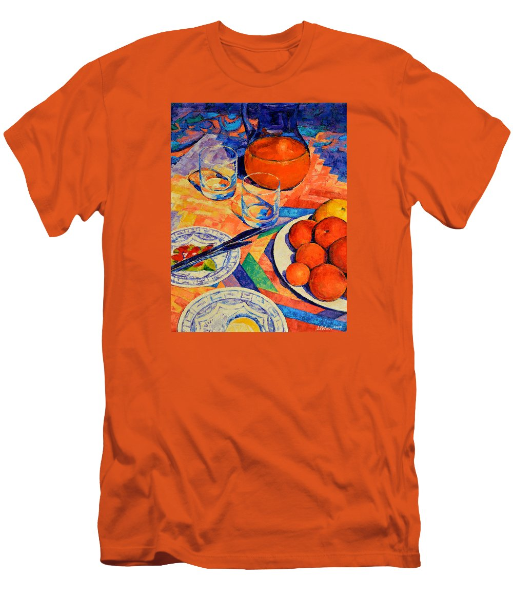 Still Life Men's T-Shirt (Athletic Fit) featuring the painting Still Life 1 by Iliyan Bozhanov