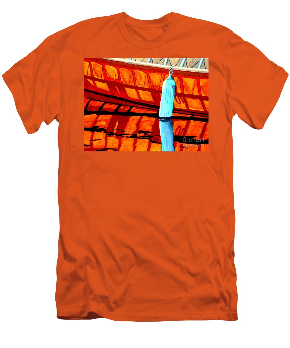 Canoe Men's T-Shirt (Athletic Fit) featuring the painting The Blue Fender by Anthony Dunphy