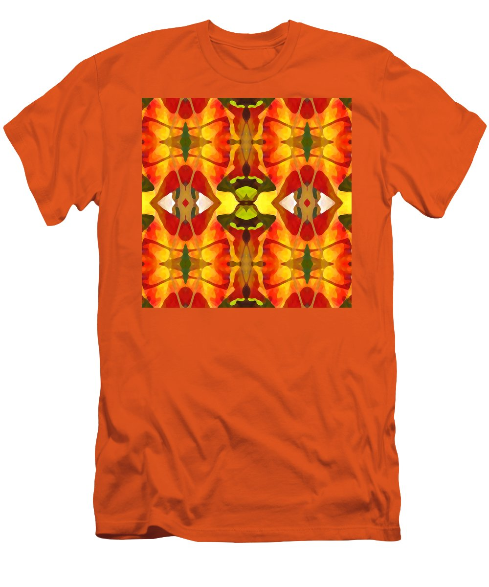 Abstract Men's T-Shirt (Athletic Fit) featuring the painting Tropical Leaf Pattern 4 by Amy Vangsgard