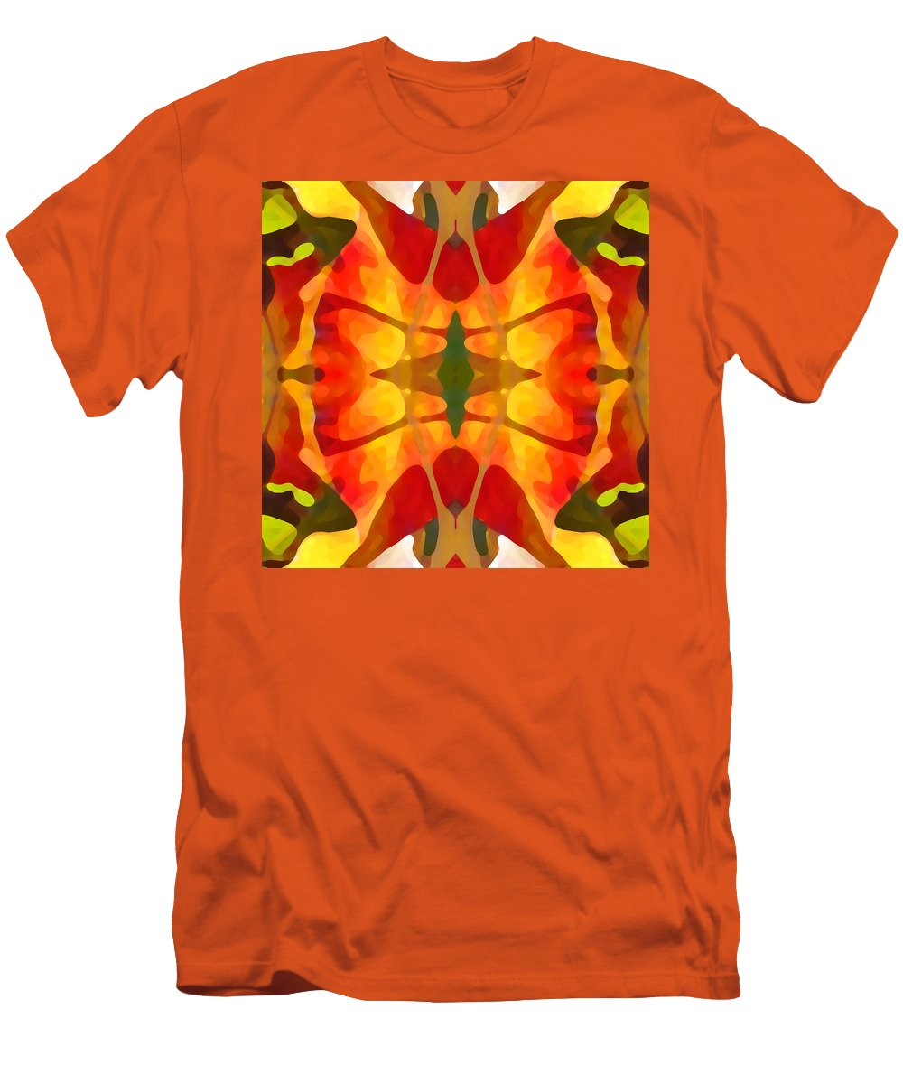 Abstract Men's T-Shirt (Athletic Fit) featuring the painting Tropical Leaf Pattern5 by Amy Vangsgard