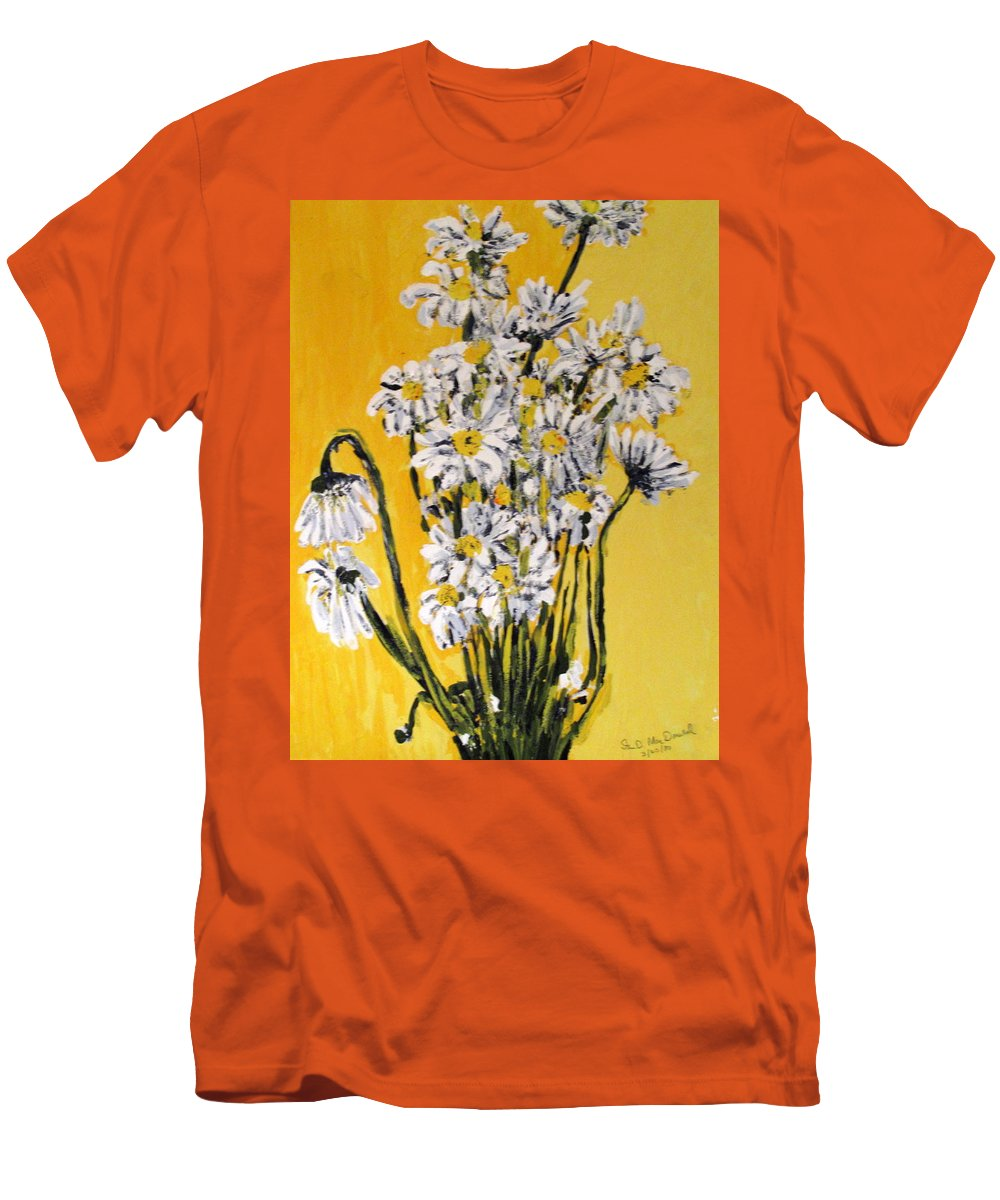 Daisy Men's T-Shirt (Athletic Fit) featuring the painting Yellow by Ian MacDonald