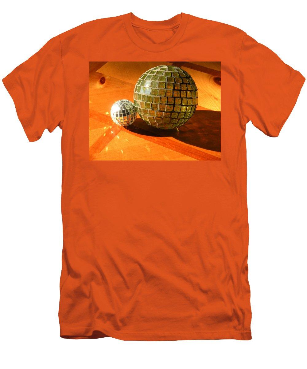 Men's T-Shirt (Athletic Fit) featuring the photograph Sunlit Spheres by Maria Bonnier-Perez