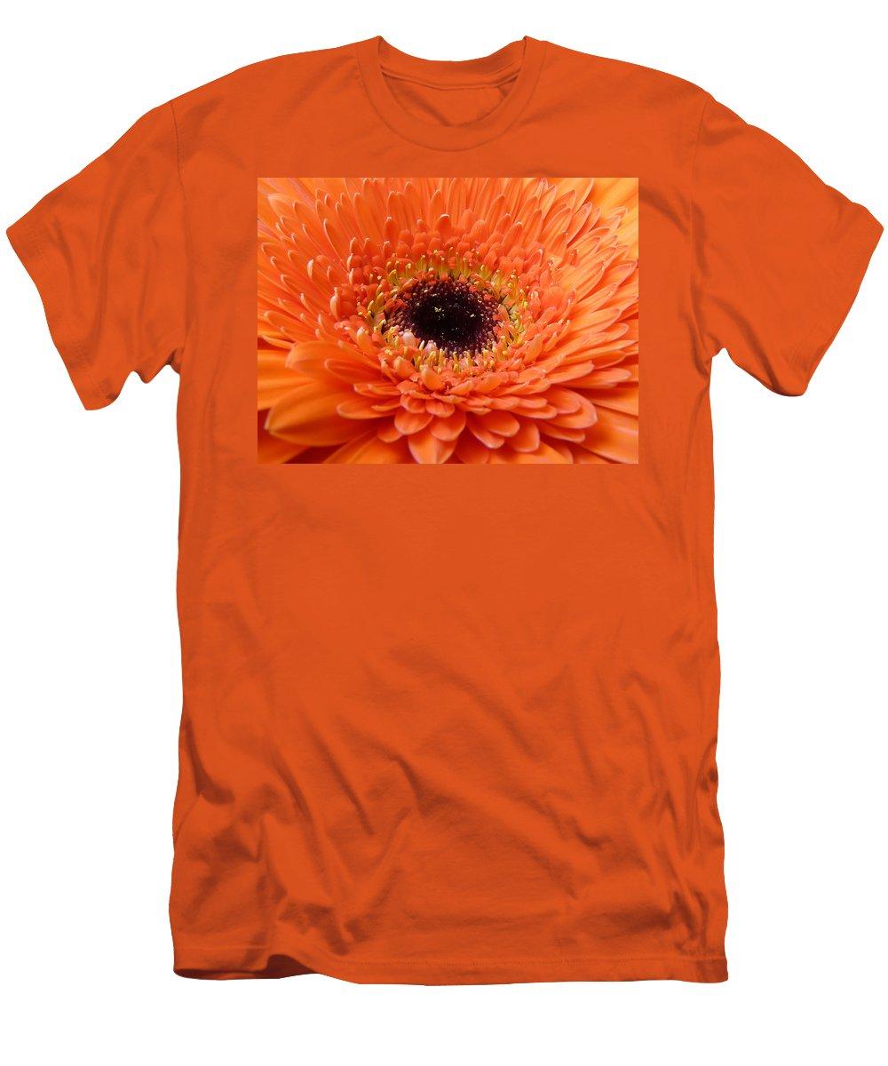 Gerbera Men's T-Shirt (Athletic Fit) featuring the photograph Gerbera by Daniel Csoka