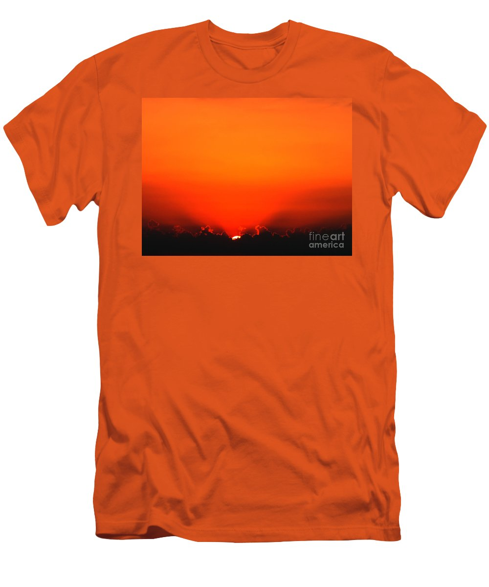 Sun Men's T-Shirt (Athletic Fit) featuring the photograph A New Day by Amanda Barcon