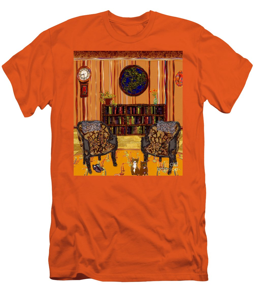 Folk Art Men's T-Shirt (Athletic Fit) featuring the painting A Victorian Horror by RC deWinter