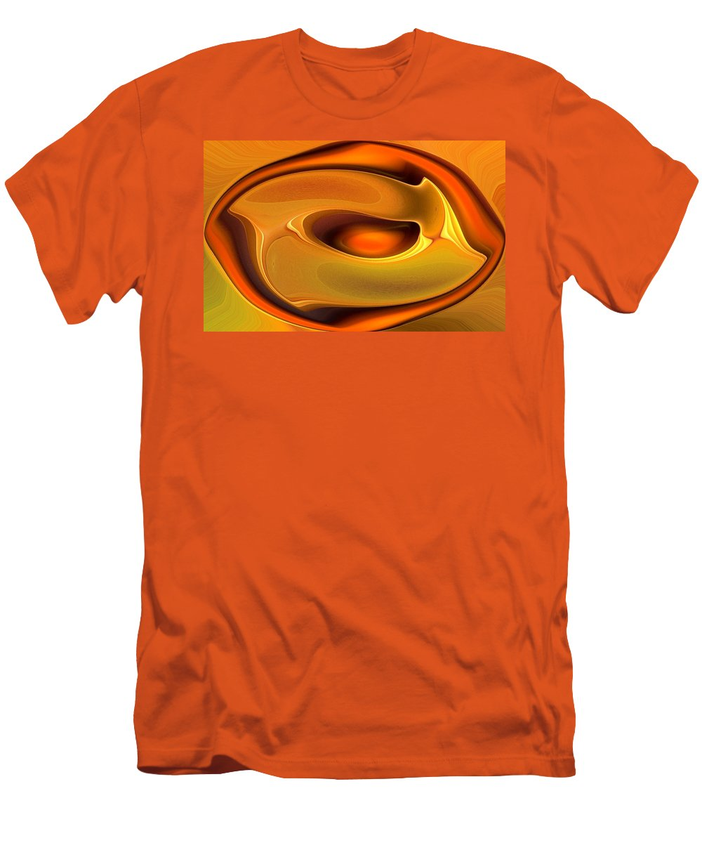 Abstract Men's T-Shirt (Athletic Fit) featuring the digital art Abstrac8-15-09 by David Lane