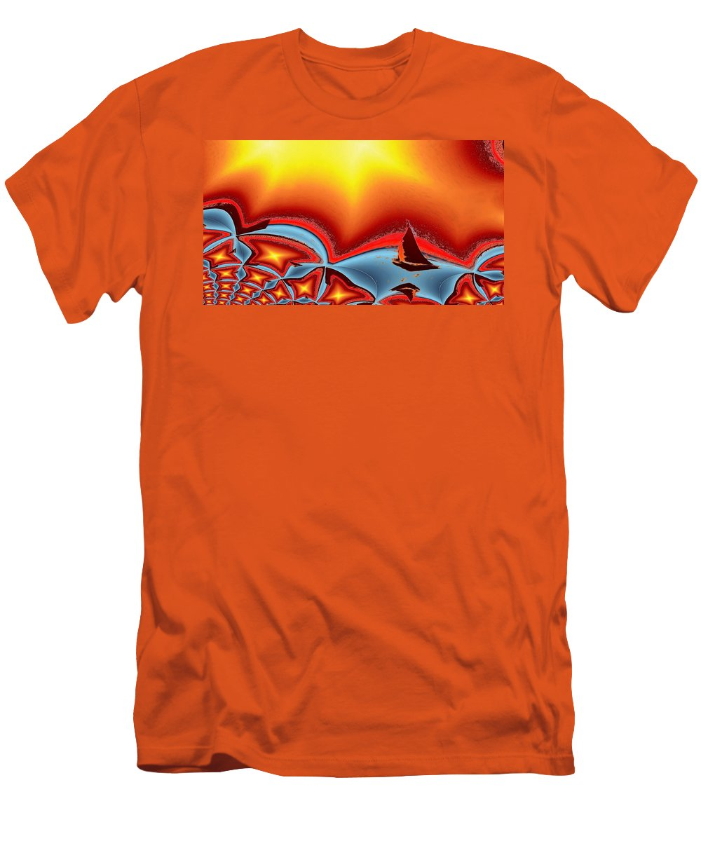 Sail Men's T-Shirt (Athletic Fit) featuring the photograph Alki Sail Under The Sun 2 by Tim Allen