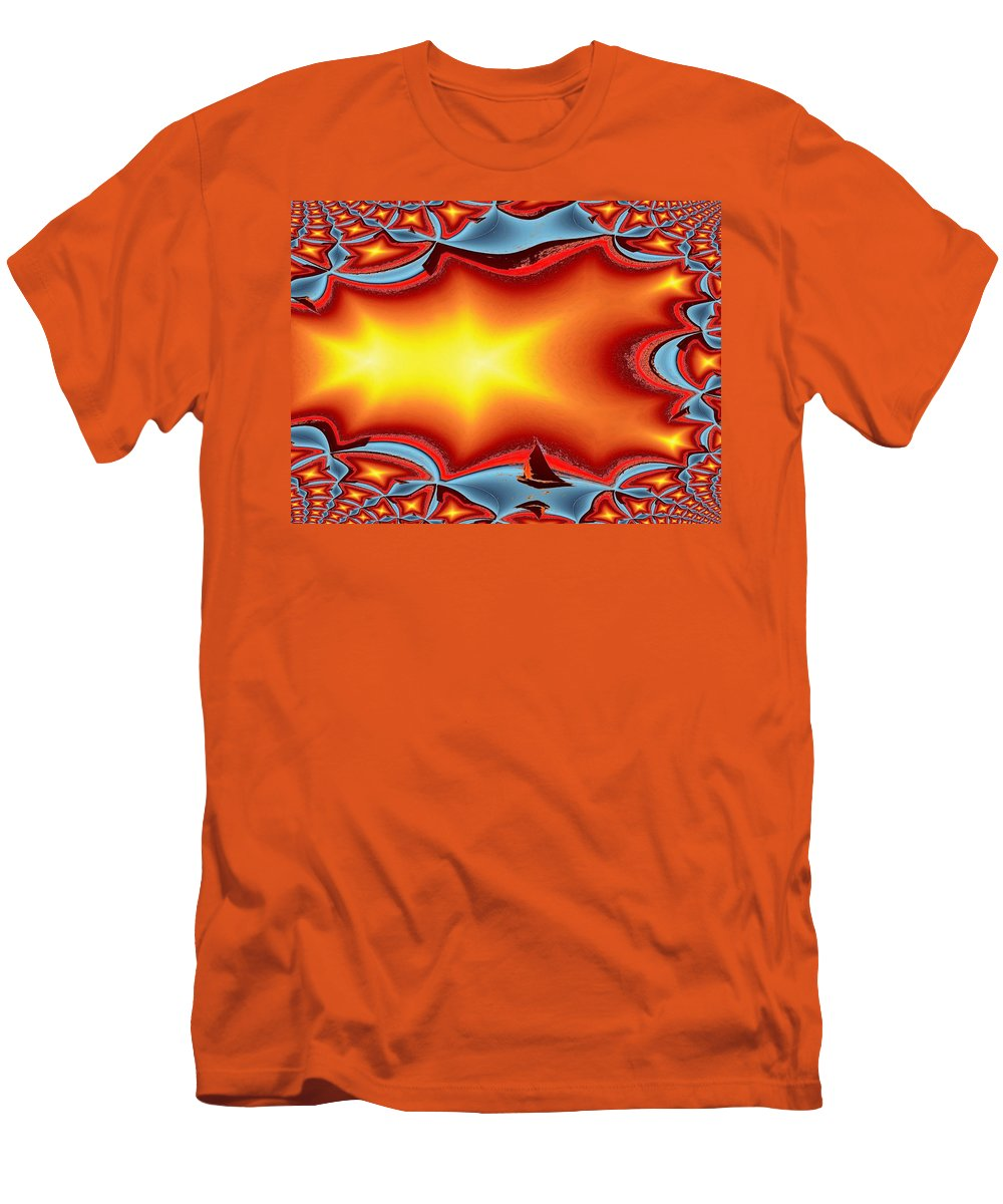Sail Men's T-Shirt (Athletic Fit) featuring the photograph Alki Sail Under The Sun by Tim Allen