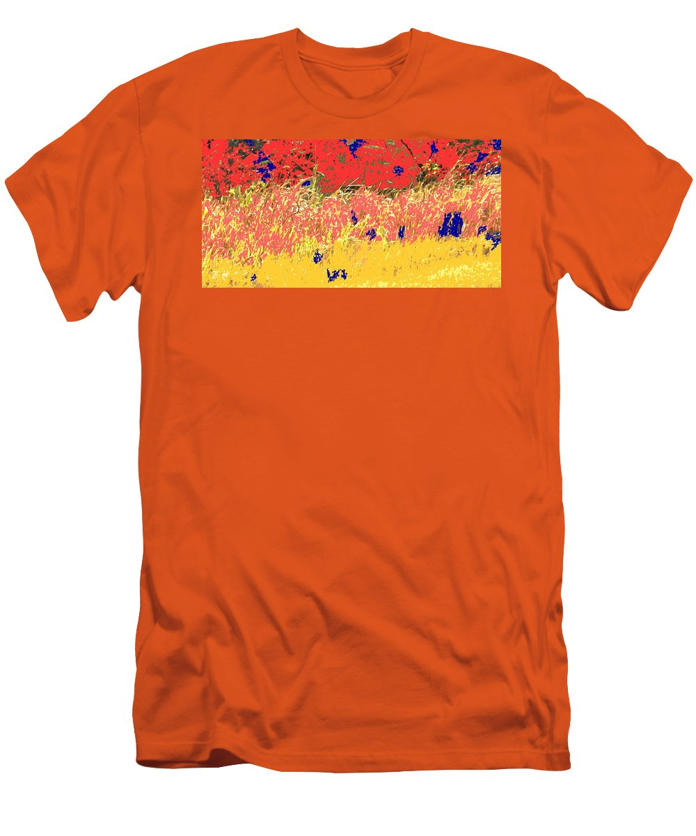 Autumn Men's T-Shirt (Athletic Fit) featuring the photograph Autumn Grasses by Ian MacDonald