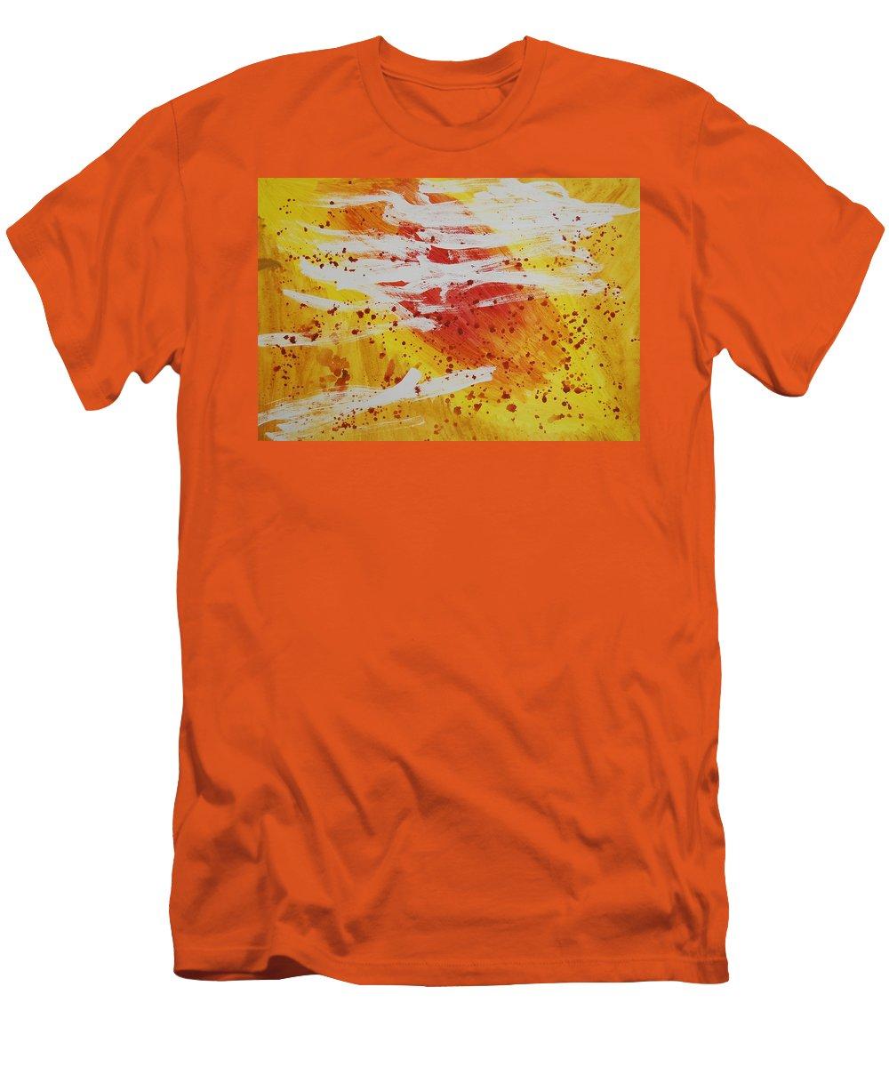 Abstract Men's T-Shirt (Athletic Fit) featuring the painting Bailando En El Sol by Lauren Luna