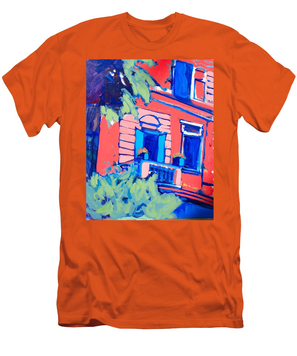 Balcony Men's T-Shirt (Athletic Fit) featuring the painting Balcone by Kurt Hausmann