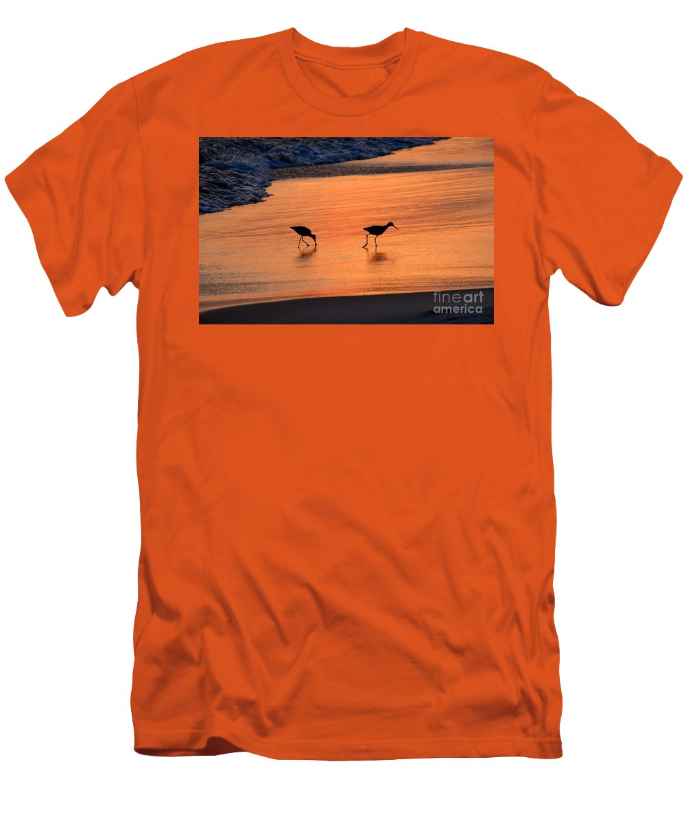 Beach Men's T-Shirt (Athletic Fit) featuring the photograph Beach Couple by David Lee Thompson