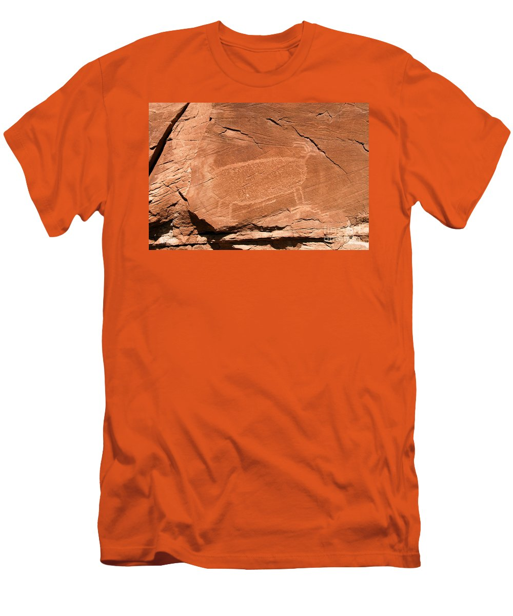 Bighorn Sheep Men's T-Shirt (Athletic Fit) featuring the photograph Bighorn by David Lee Thompson