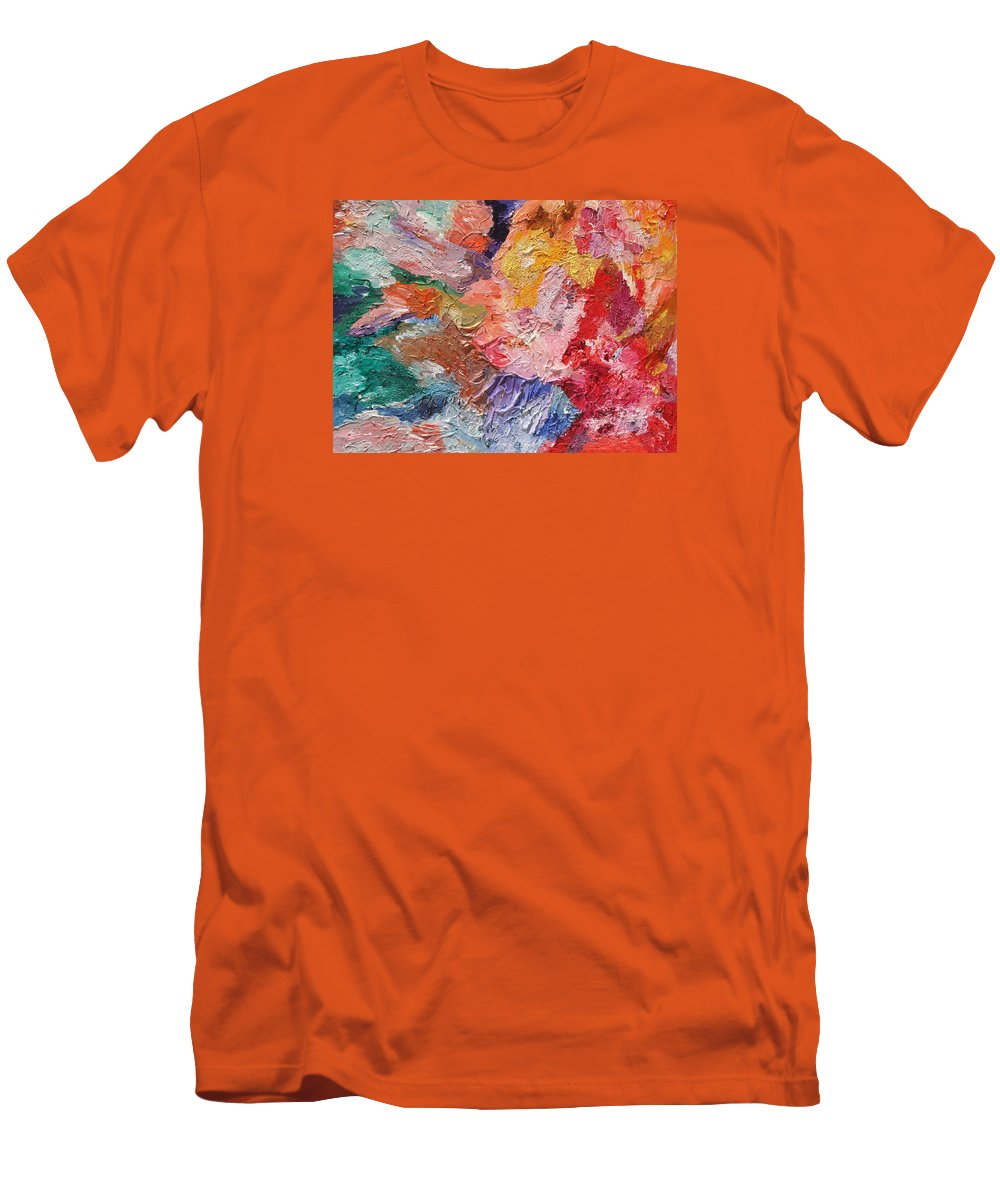 Fusionart Men's T-Shirt (Athletic Fit) featuring the painting Birth Of Passion by Ralph White