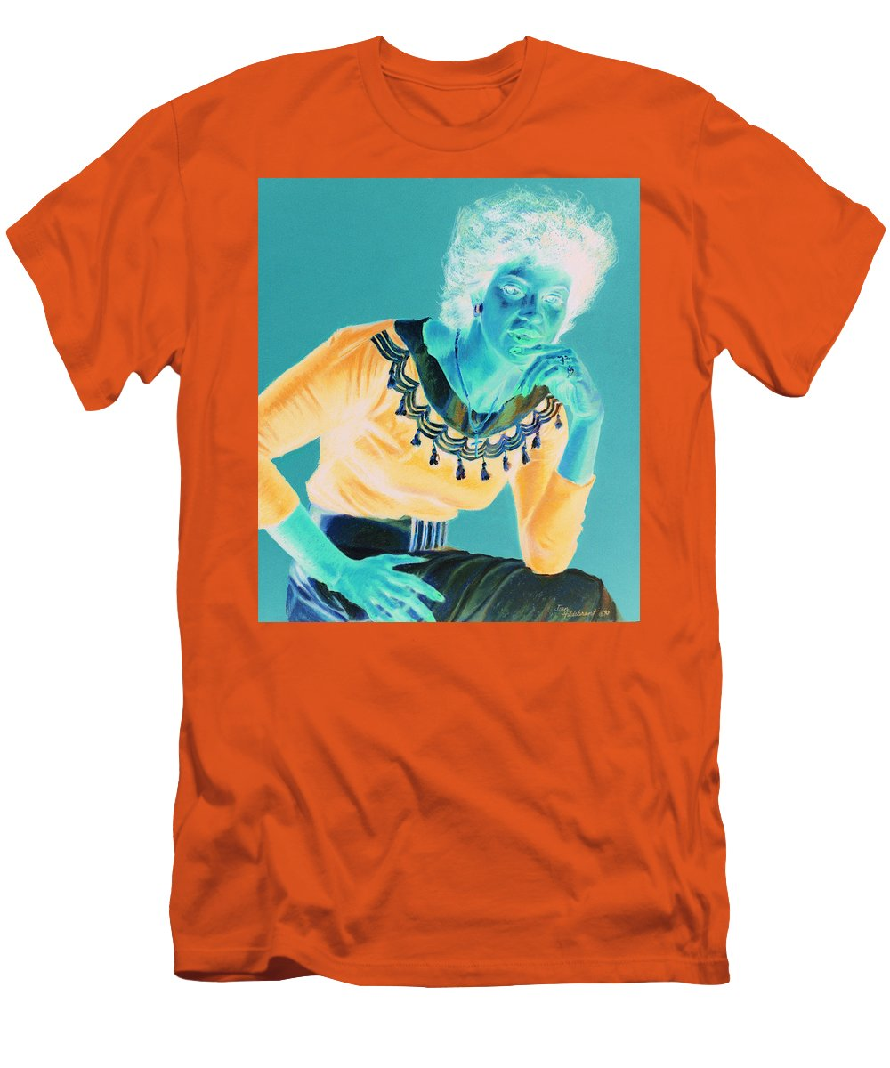 Portrait Men's T-Shirt (Athletic Fit) featuring the painting Bobbi by Jean Hildebrant