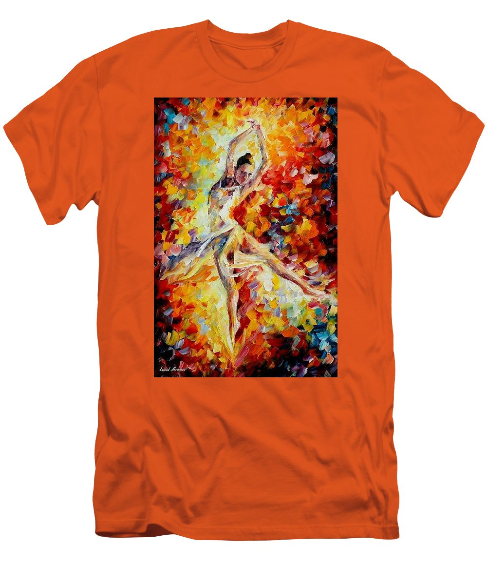 Danse Men's T-Shirt (Athletic Fit) featuring the painting Candle Fire by Leonid Afremov