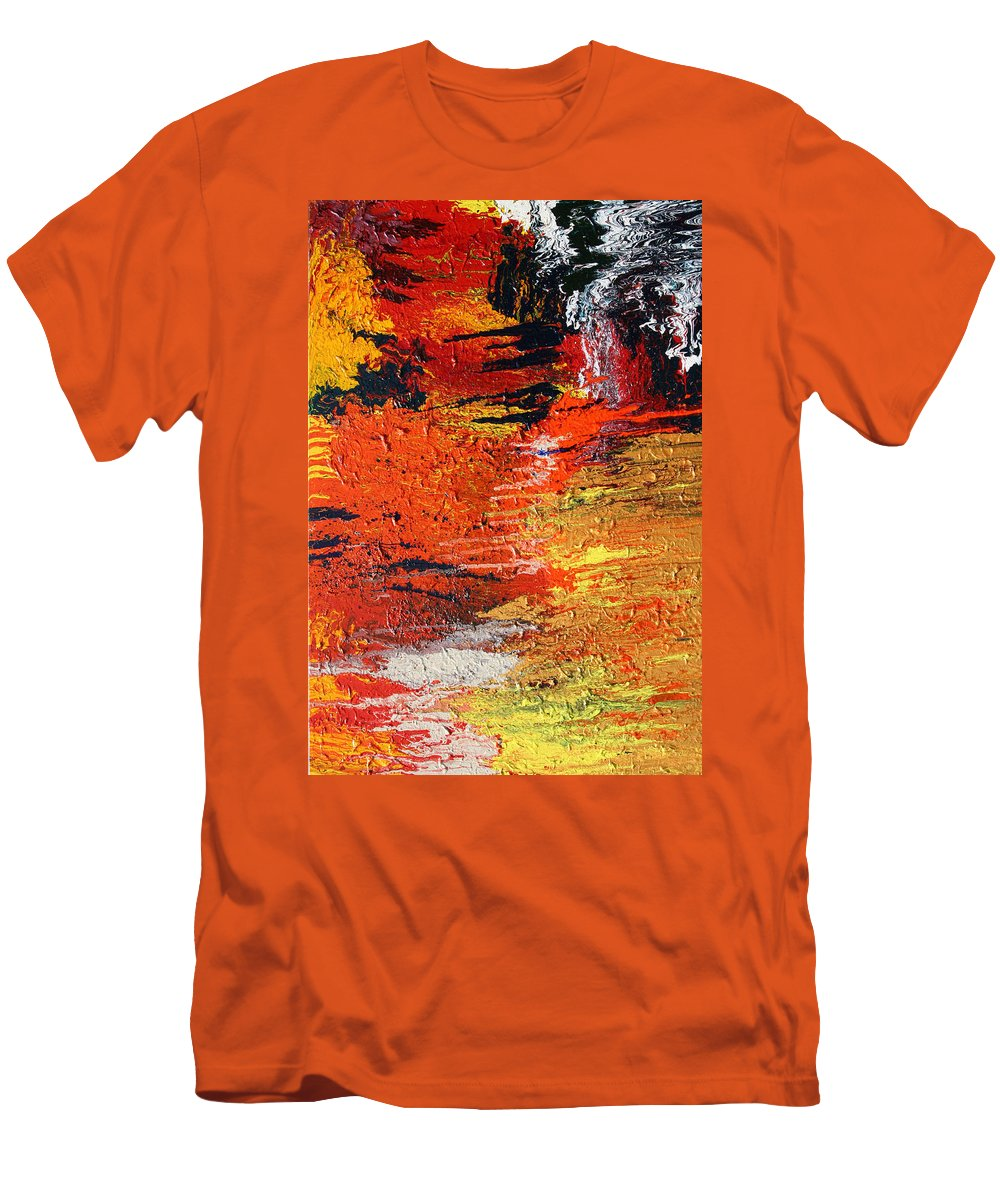 Fusionart Men's T-Shirt (Athletic Fit) featuring the painting Chasm by Ralph White