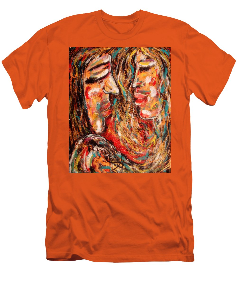 Romantic Men's T-Shirt (Athletic Fit) featuring the painting Close Encounter by Natalie Holland