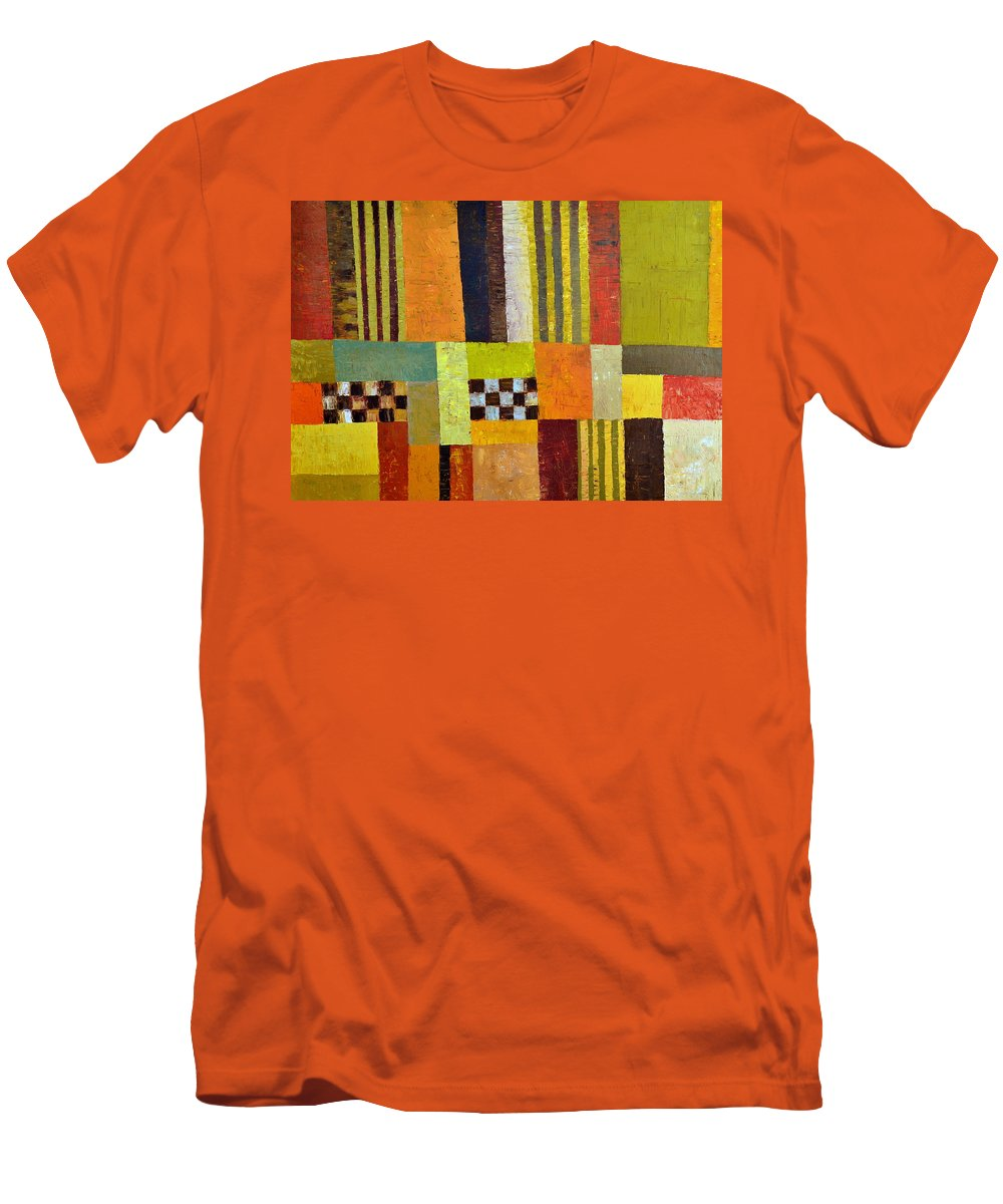 Colorful Men's T-Shirt (Athletic Fit) featuring the painting Color And Pattern Abstract by Michelle Calkins