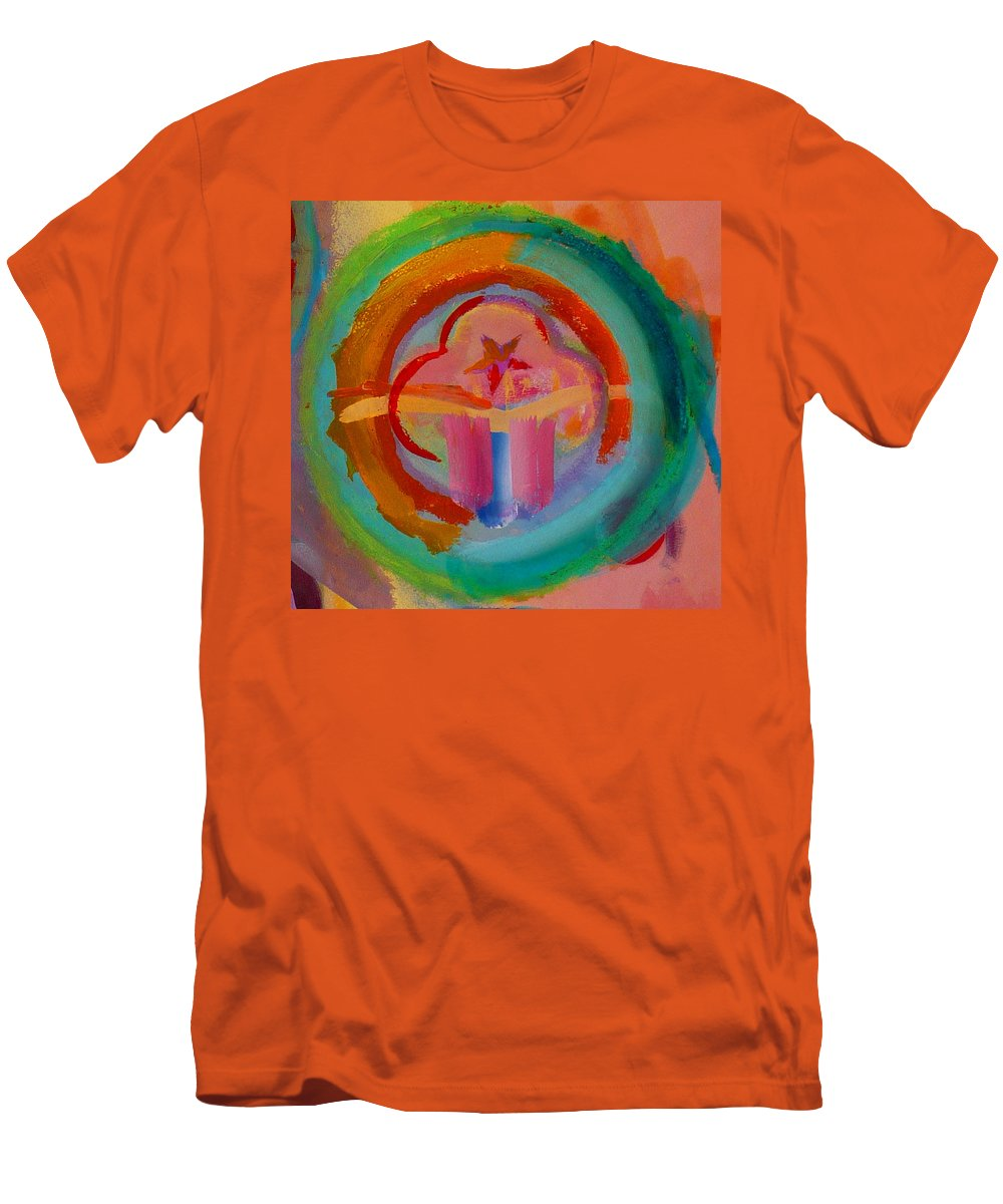 Logo Men's T-Shirt (Athletic Fit) featuring the painting Colour States by Charles Stuart