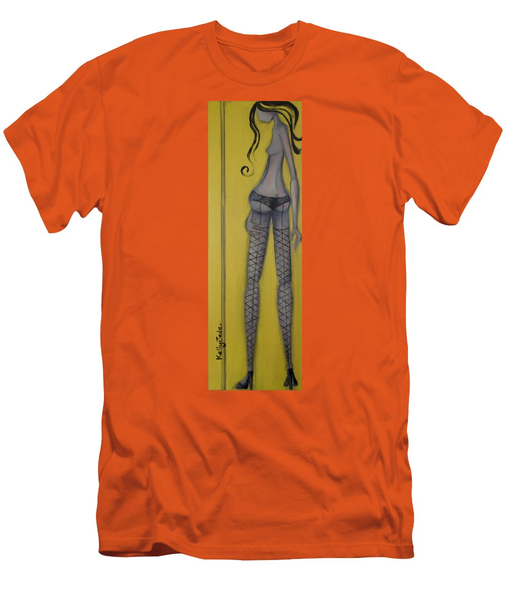 Dancer Men's T-Shirt (Athletic Fit) featuring the painting Dancer by Kelly Jade King