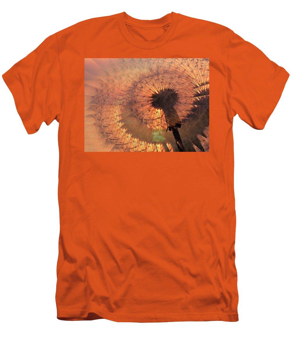 Dandilion Men's T-Shirt (Athletic Fit) featuring the digital art Dandelion Illusion by Tim Allen