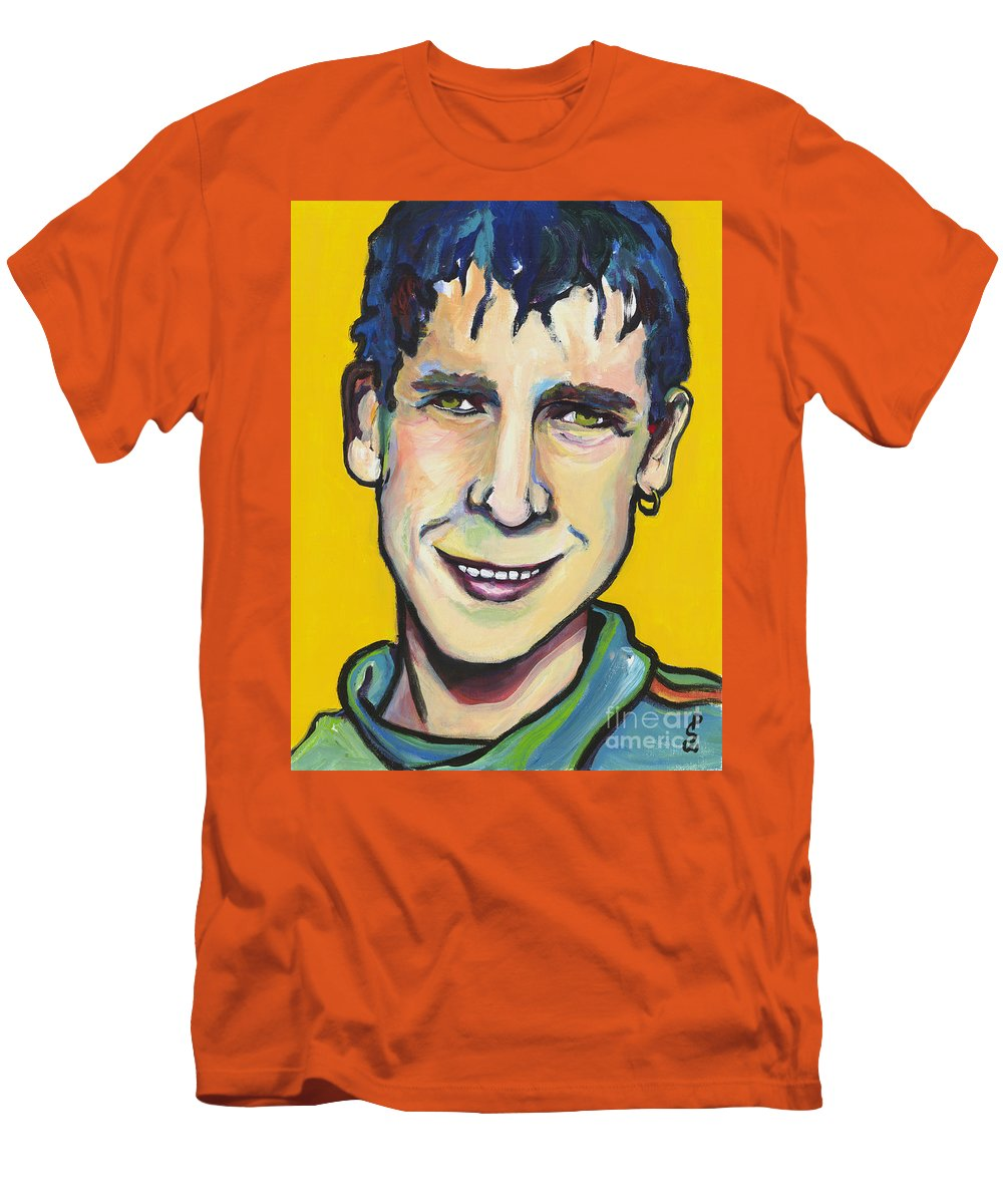Portrait Men's T-Shirt (Athletic Fit) featuring the painting Daniel by Pat Saunders-White