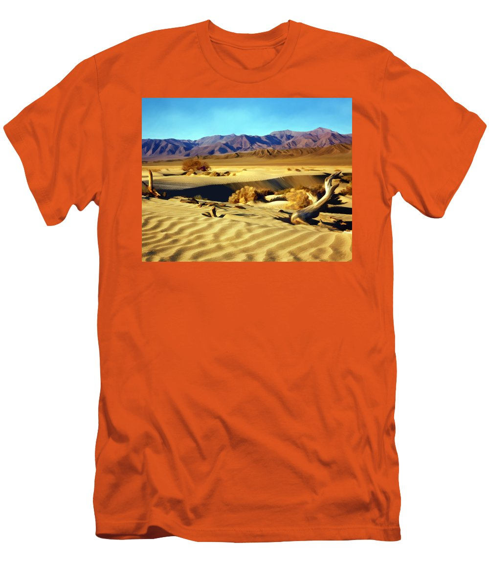 Death Valley Men's T-Shirt (Athletic Fit) featuring the photograph Death Valley by Kurt Van Wagner