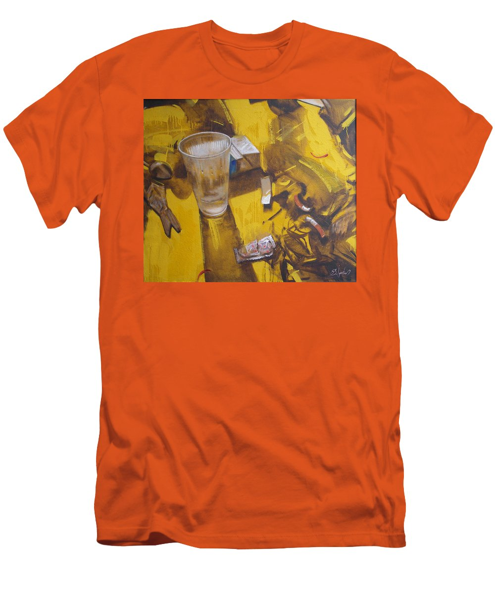 Disposable Men's T-Shirt (Athletic Fit) featuring the painting Disposable by Sergey Ignatenko