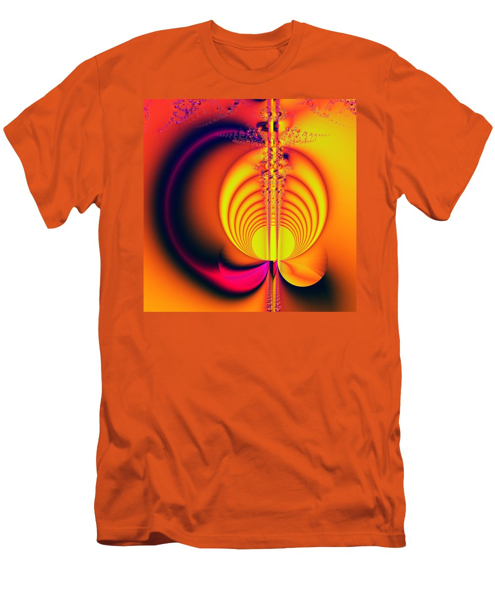 Digital Art Men's T-Shirt (Athletic Fit) featuring the digital art Eclipse by Amanda Moore
