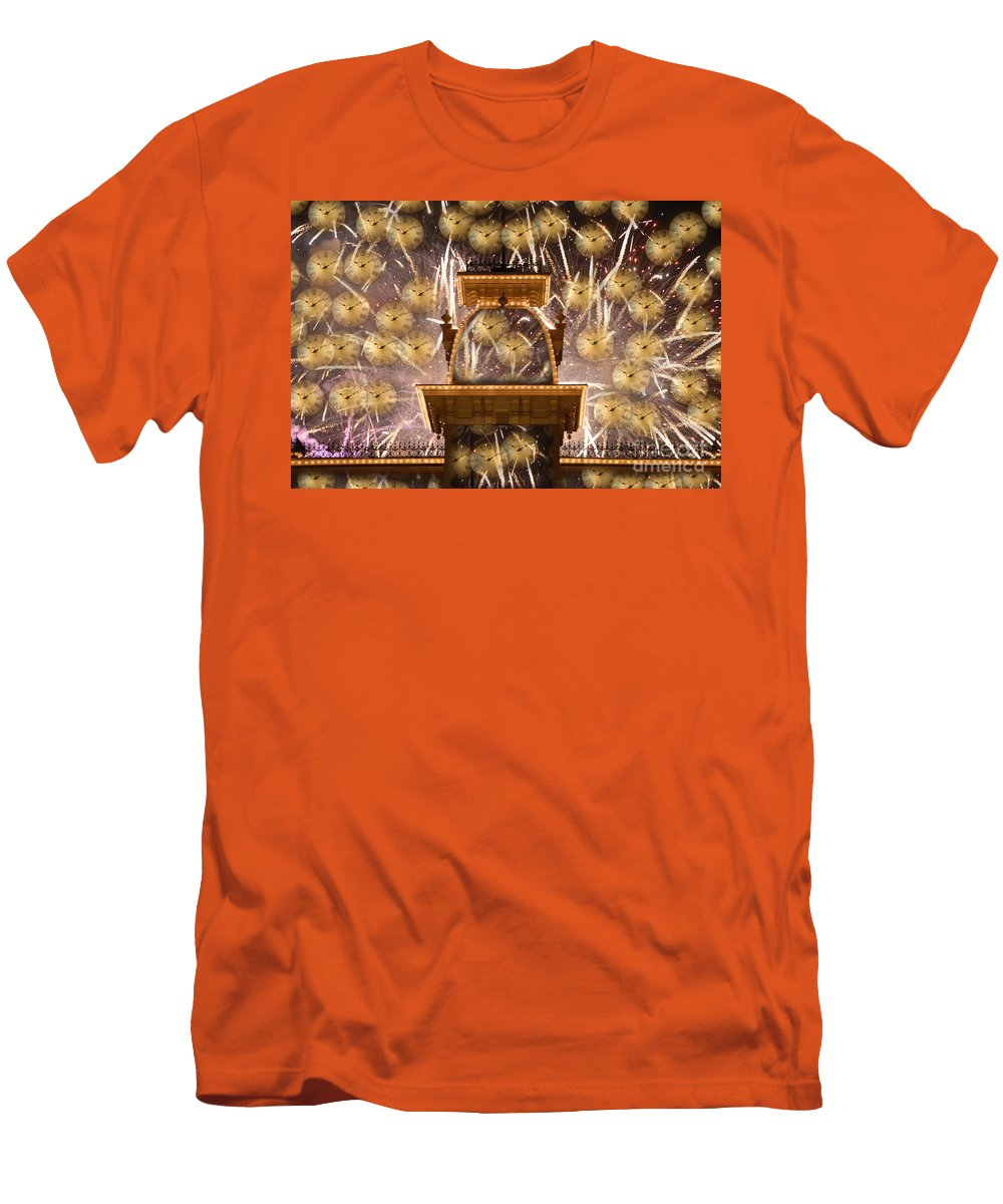 Art.clocks Men's T-Shirt (Athletic Fit) featuring the photograph Einstein's Dream by David Lee Thompson