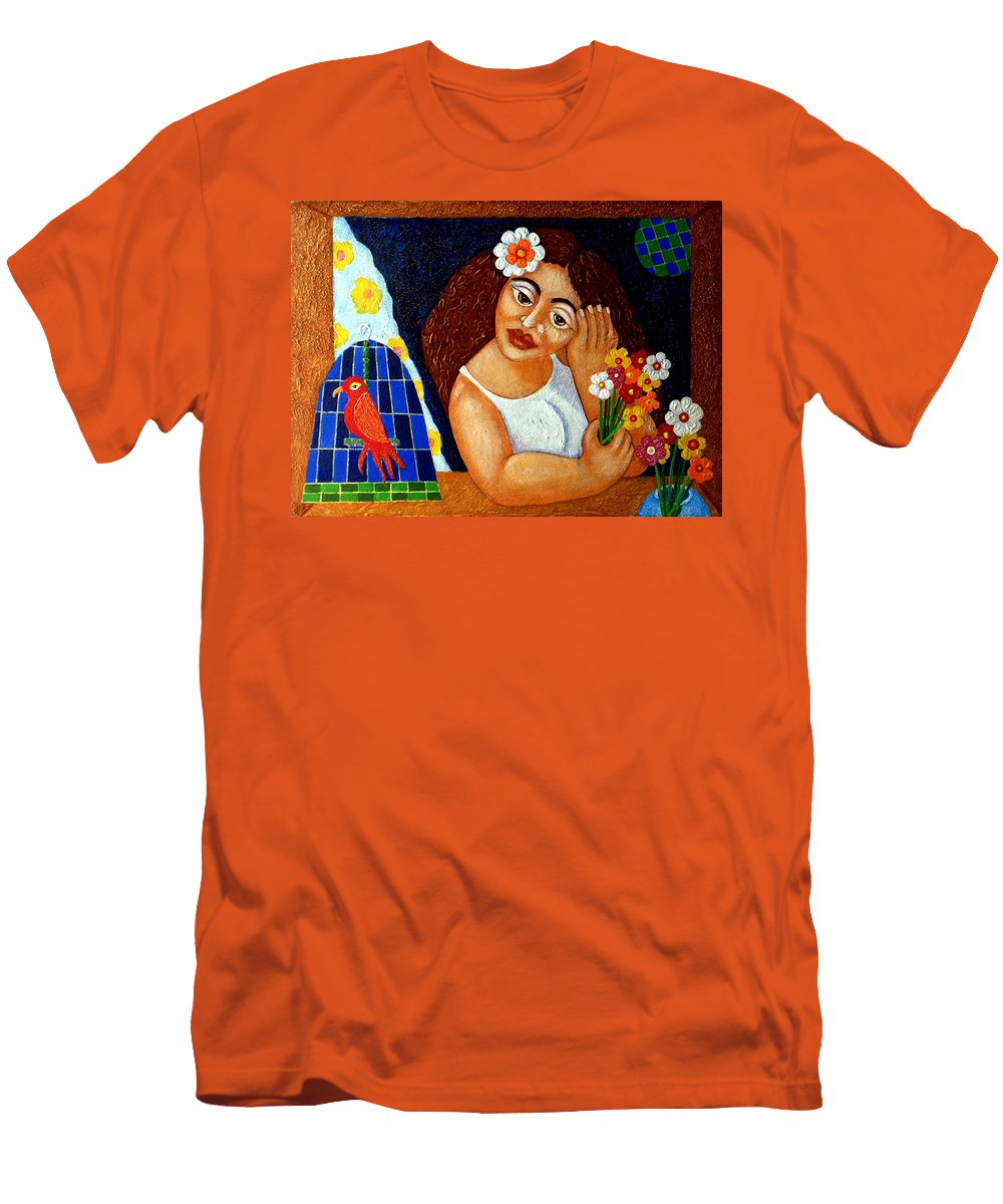 Eve Men's T-Shirt (Athletic Fit) featuring the painting Eternal Eve - II by Madalena Lobao-Tello