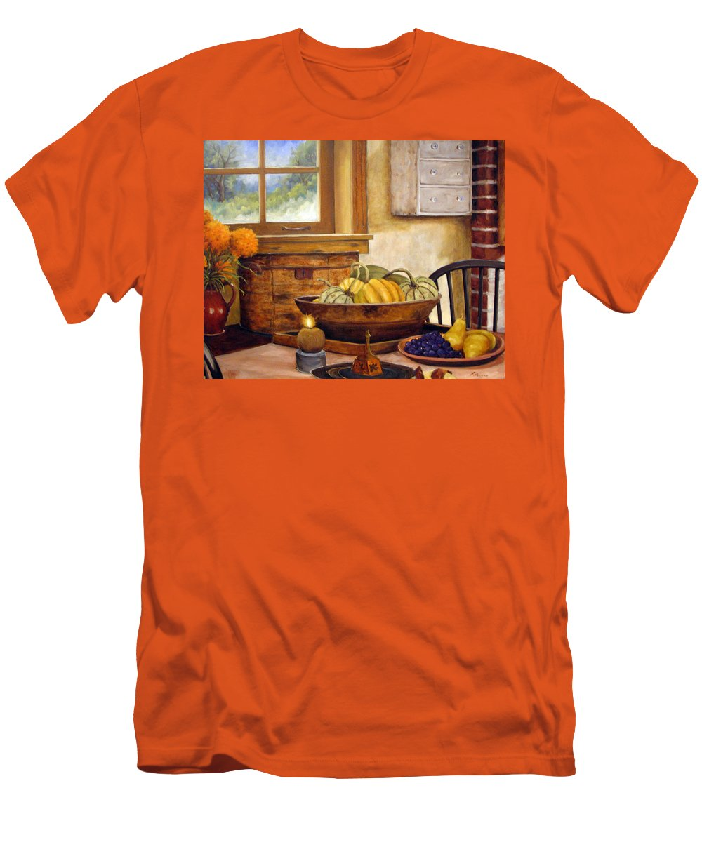 Fall Men's T-Shirt (Athletic Fit) featuring the painting Fall Harvest by Richard T Pranke