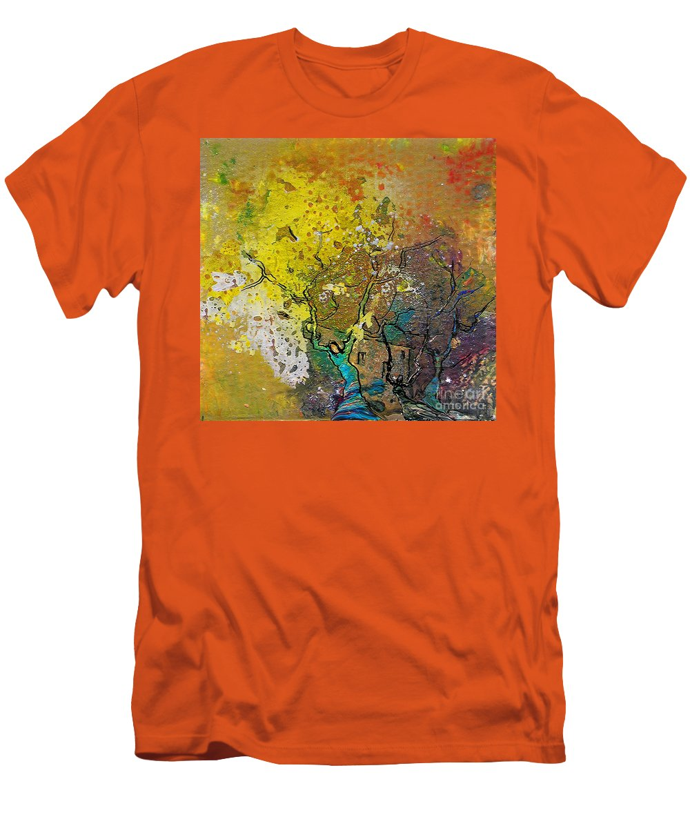 Miki Men's T-Shirt (Athletic Fit) featuring the painting Fantaspray 13 1 by Miki De Goodaboom