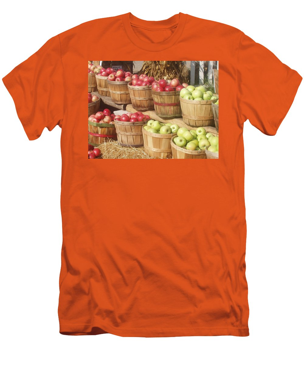 Farmers Market Men's T-Shirt (Athletic Fit) featuring the photograph Farmer's Market Apples by Wayne Potrafka