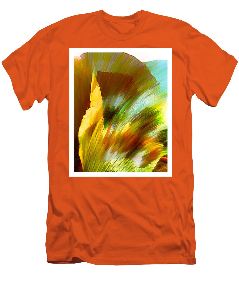 Landscape Digital Art Watercolor Water Color Mixed Media Men's T-Shirt (Athletic Fit) featuring the digital art Feather by Anil Nene