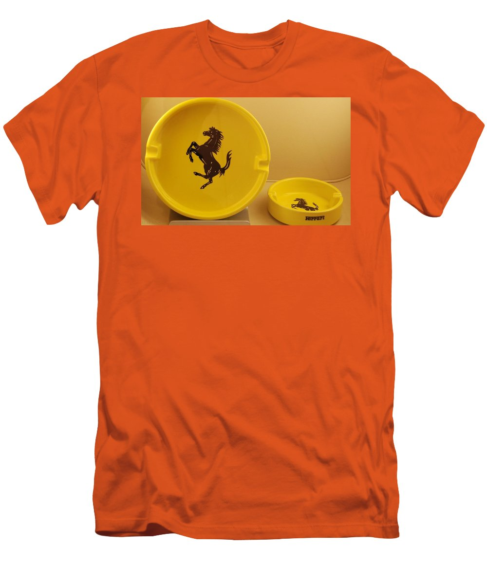 Stallion Men's T-Shirt (Athletic Fit) featuring the photograph Ferrari Ash Catchers by Rob Hans