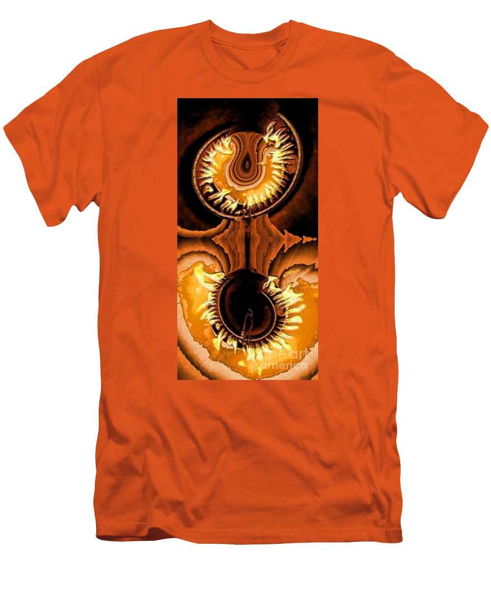 Collage Men's T-Shirt (Athletic Fit) featuring the digital art Fired Up by Ron Bissett