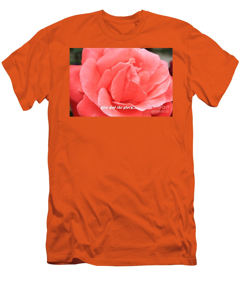 Rose Men's T-Shirt (Athletic Fit) featuring the photograph Give God The Glory by Carol Groenen