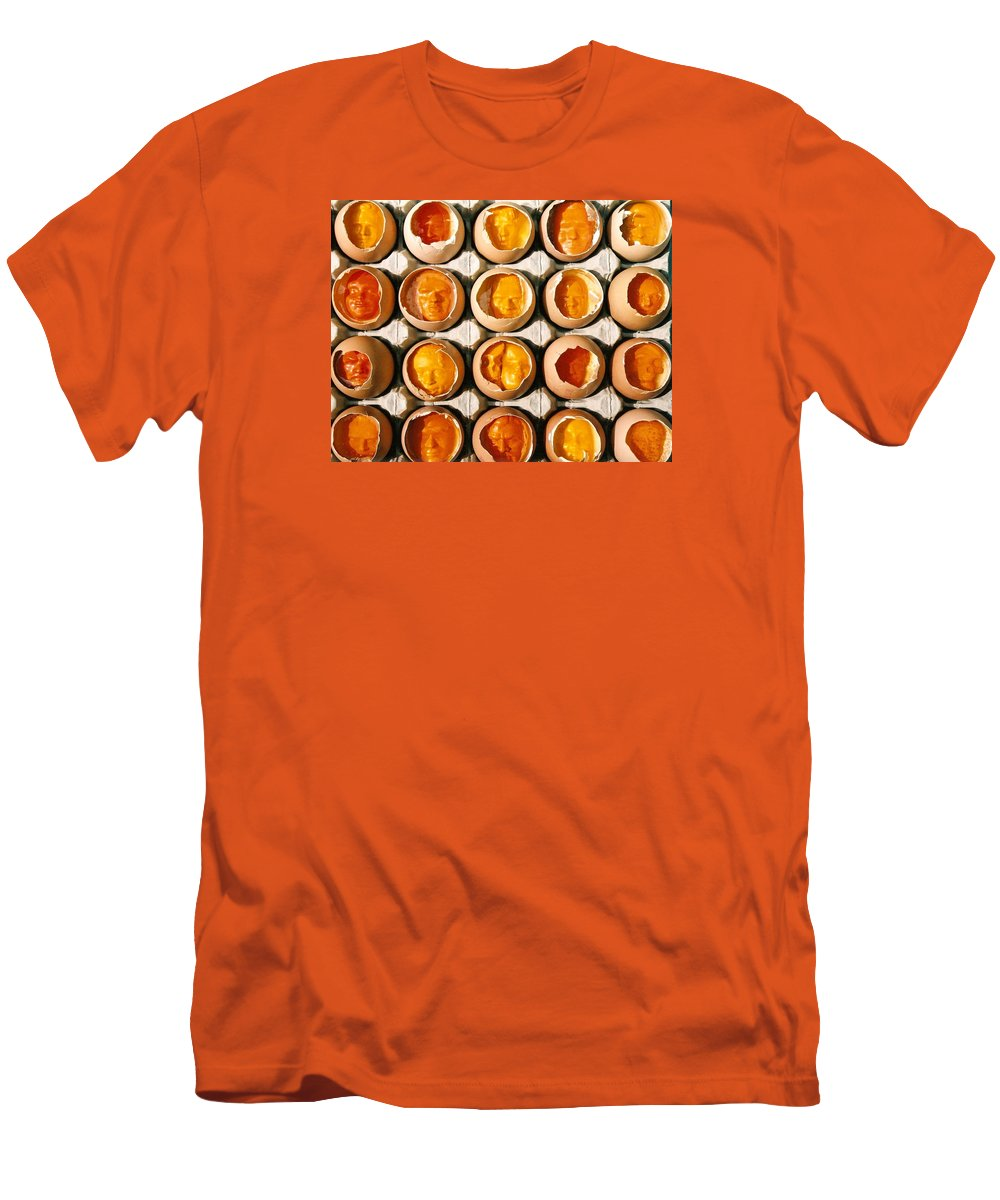 Eggs Men's T-Shirt (Athletic Fit) featuring the sculpture Golden Eggs 2 by Mark Cawood