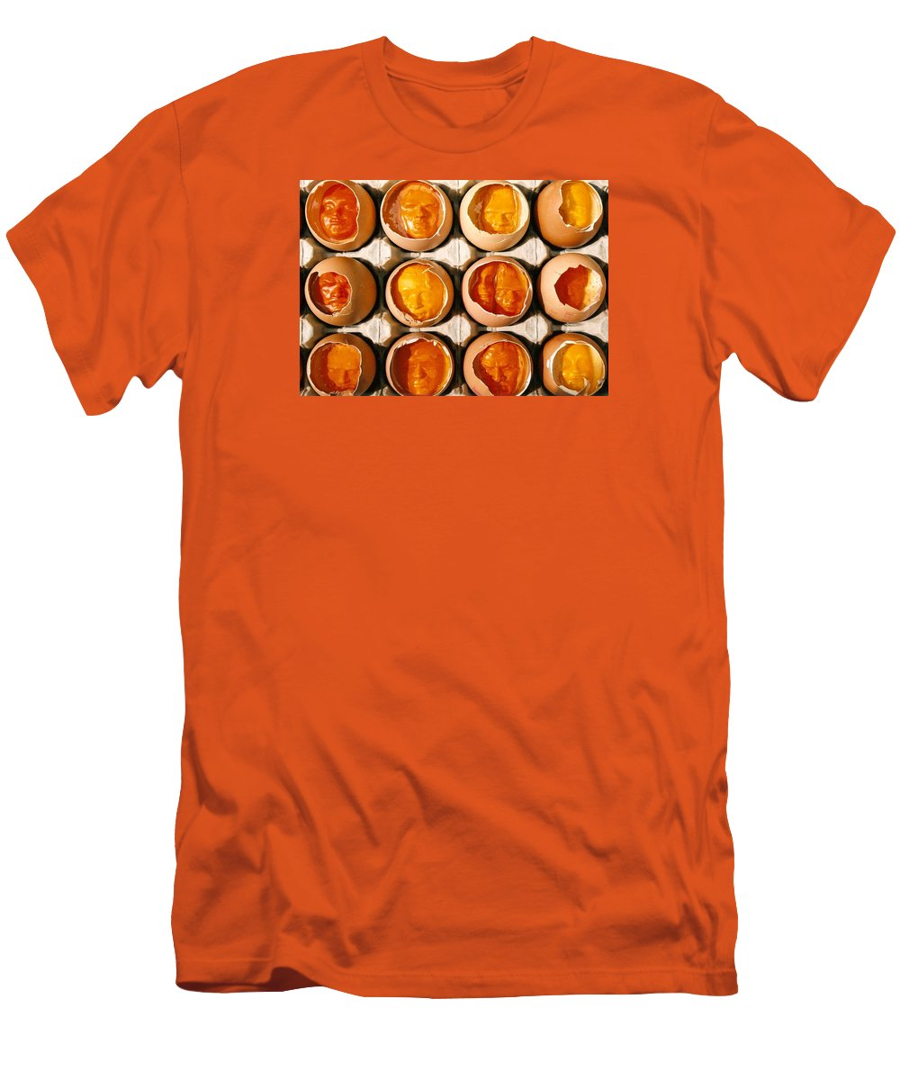 Eggs Men's T-Shirt (Athletic Fit) featuring the sculpture Golden Eggs by Mark Cawood