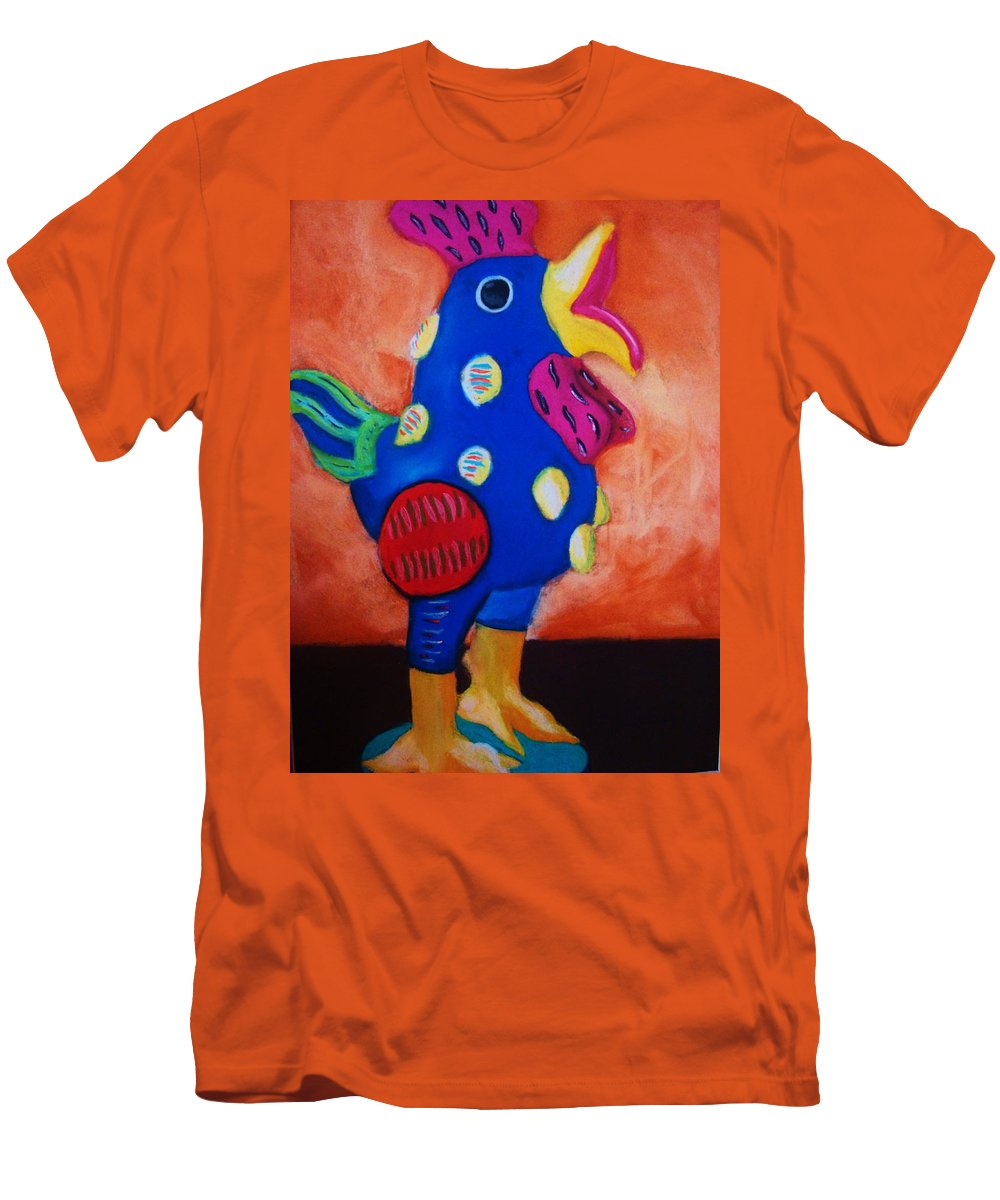 Chick Men's T-Shirt (Athletic Fit) featuring the painting Hear Ye Hear Ye by Melinda Etzold