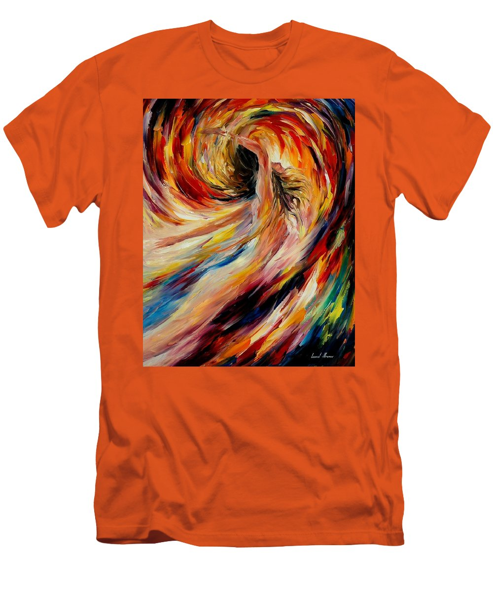 Nude Men's T-Shirt (Athletic Fit) featuring the painting In The Vortex Of Passion by Leonid Afremov