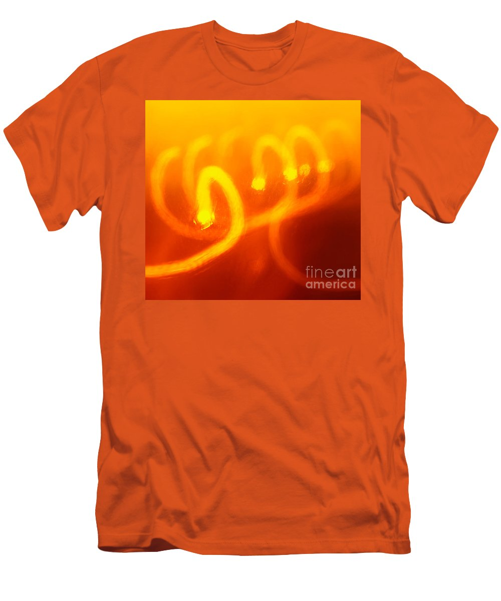 Abstract Men's T-Shirt (Athletic Fit) featuring the photograph Light Trail Abstract by Gaspar Avila