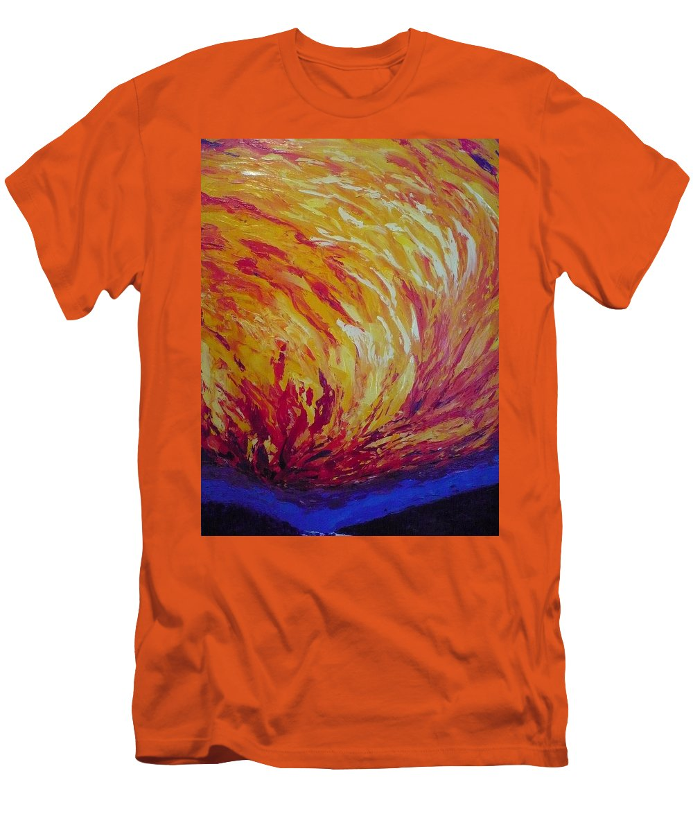 Fire Men's T-Shirt (Athletic Fit) featuring the painting Lighting A Match by Ericka Herazo