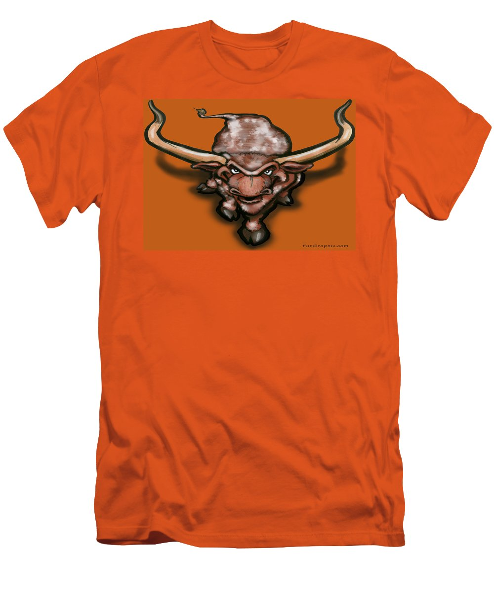 Longhorn Men's T-Shirt (Athletic Fit) featuring the greeting card Longhorn by Kevin Middleton