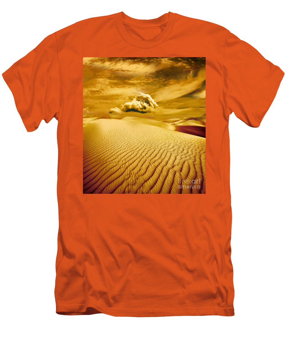 Desert Men's T-Shirt (Athletic Fit) featuring the photograph Lost Worlds by Jacky Gerritsen